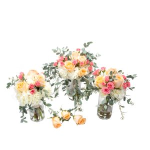 Peaches and Cream Wedding Flowers